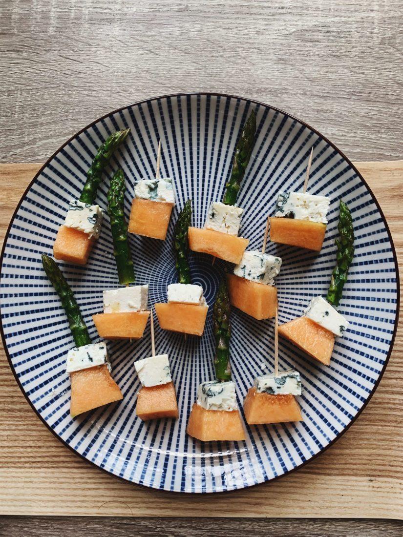 sūrio ir meliono užkandis