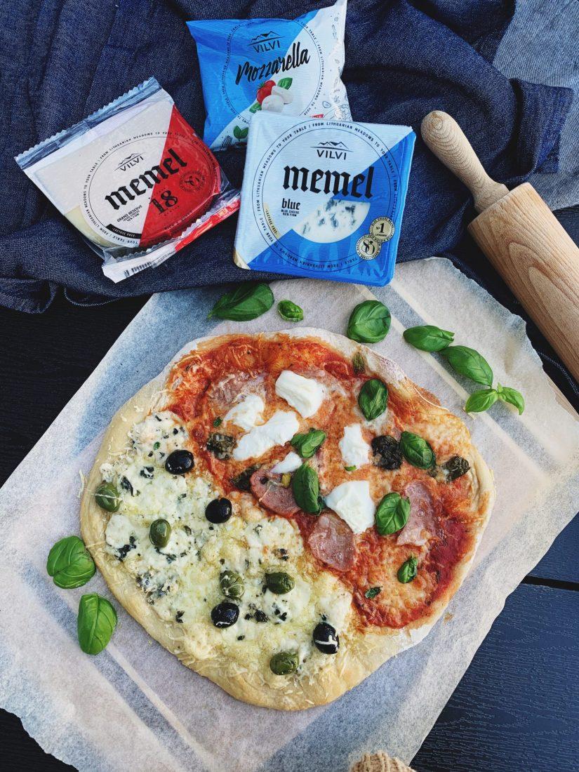 Naminė pica su sūriais